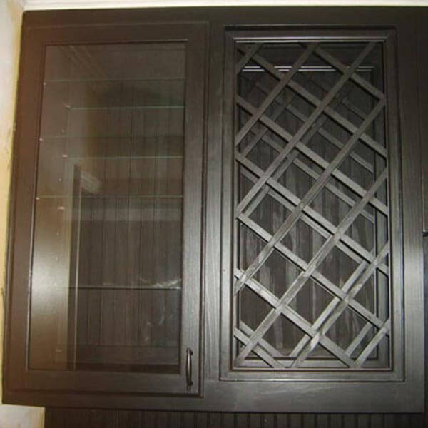 this bathroom remodeling project in alpharetts ga included a custom built in wine rack