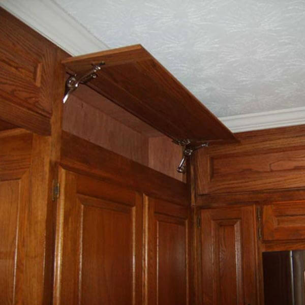 cabinet addition stained to match in an alpharetta ga bathroom remodel
